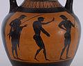 Vatican G 23 Group - Black-figure Pseudo-Panathenaic Amphora with Discus Thrower - Walters 482109 - Side B Detail.jpg