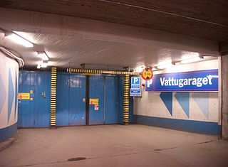 Klara shelter large air-raid shelter in Stockholm, Sweden