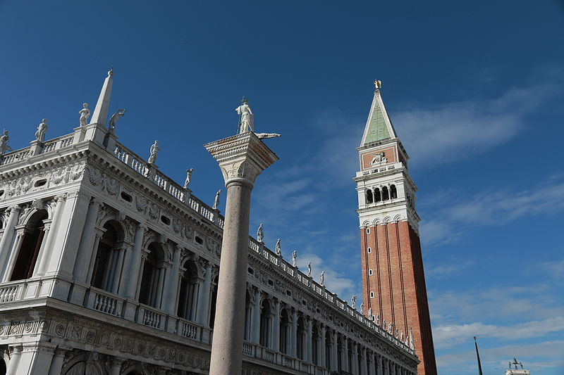 Facade of the Biblioteca Marciana in Venice
