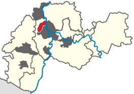 Frankenthal (red) in the Rhein-Neckar region