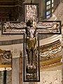Vercelli, duomo, interno, crocifisso in lamina d'argento ottoniano, 999-1026 ca.jpg