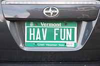 Vermont license plate HAV FUN - Flickr - exfordy.jpg