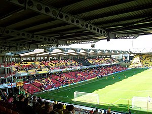 Vicarage Road - The Graham Taylor Stand and incomplete south west corner (left), pictured in 2012.