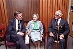 Vice President George Bush meets with his mother, Dorothy Walker Bush, and former Senator Barry Goldwater while campaigning in Miami, Florida.jpg