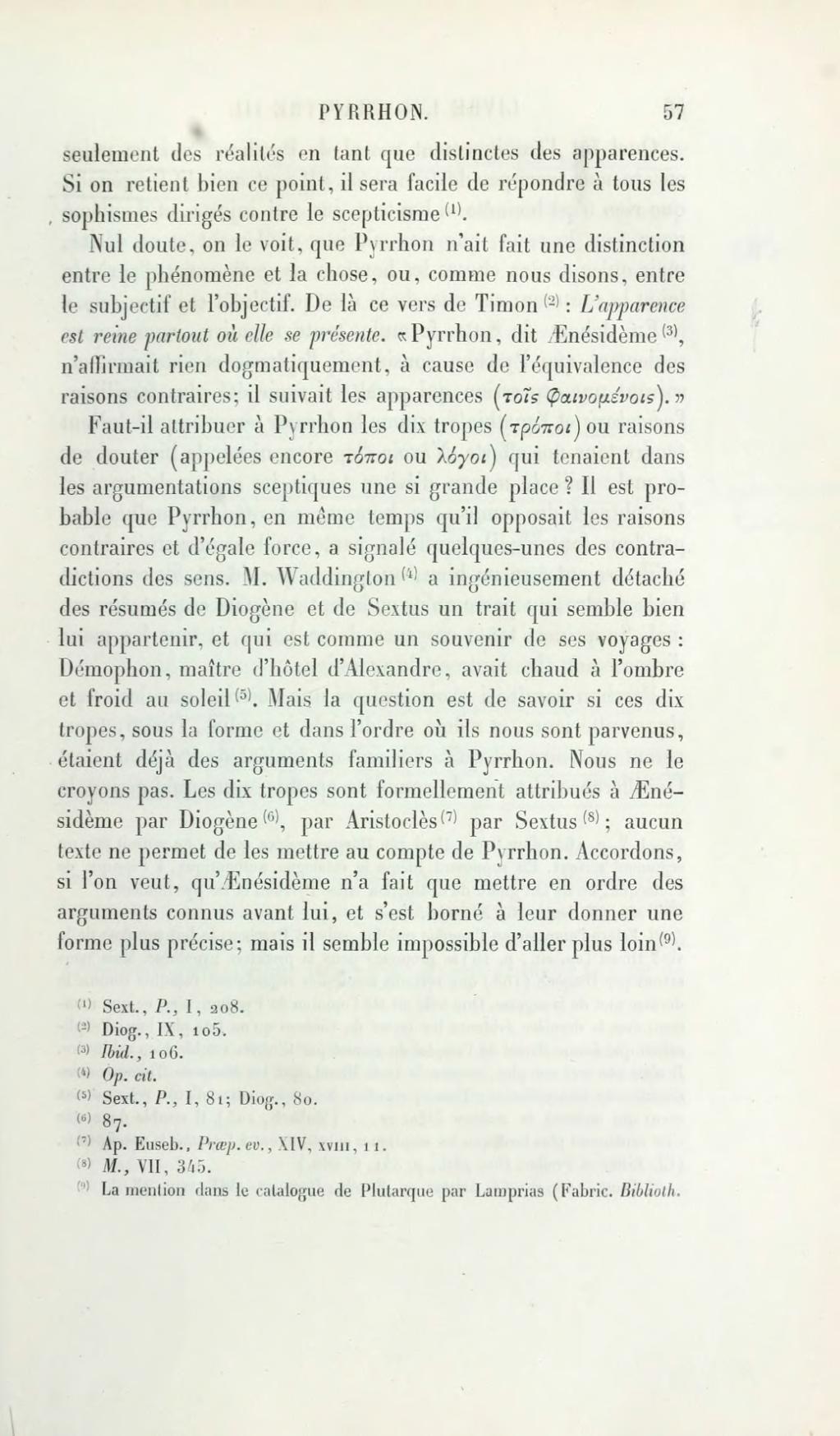 Les Sceptiques grecs - Victor Brochard