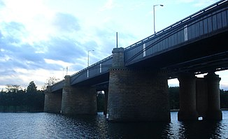 Victoria Bridge über den Nepean River in Penrith