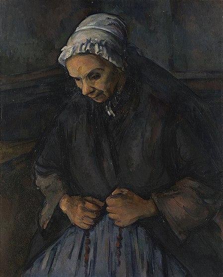 Vieille femme au rosaire, par Paul Cézanne