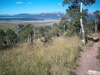 Colorado Trail - View from The Colorado Trail, overlooking South Park, near Kenosha Pass
