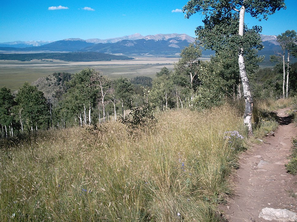 View from Colorado Trail, overlooking South Park, near Kenosha Pass