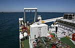 View from Fugro Discovery as she departs Fremantle to conduct system trials.jpg
