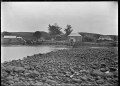 View of Kerikeri, showing the Stone Store, and the Kemp House. ATLIB 287795.png