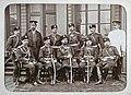 Viipurin tarkkampujapataljoonan upseereja kasarmin edessä (J David, 1891).jpg