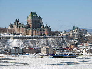 Quebec City, view from Lévis, Canada