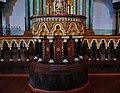 Vilnius Choraline Sinagoga Innen Thoraschrein Kanzel 1.jpg