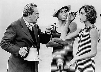Death in Venice (film) - Visconti (at left), Andresen (at right). Garfagnoli in the middle.