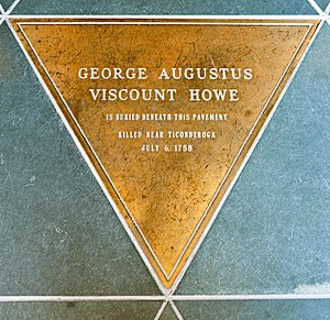 George Howe, 3rd Viscount Howe - Image: Viscount Howe burial marker, St Peter's Episcopal Church, Albany, NY