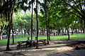 Visitors Sitting on Benches of Yuchen Park Rest Area 20140817.jpg