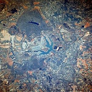 Vista parcial do Distrito Federal, Brasil