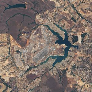History of Brasília - Satellite view.