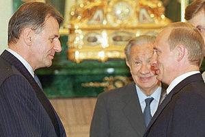 THE KREMLIN, MOSCOW. President Putin with a ne...
