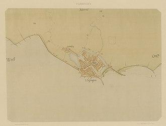 Jacob van Deventer (cartographer) - Image: Vlissingen 1550 v Deventer min