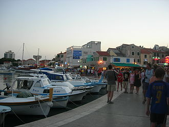 D27 road (Croatia) - Vodice, just to the west of the southern terminus of D27