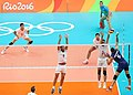 Volleyball match between national teams of Iran and Italy at the Olympic Games in 2016 - 4.jpg