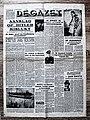 """Voorpagina """"De Gazet"""" 22 Juli 1944 met hoofdnieuws """"Aanslag op Hitler mislukt"""".jpg"""