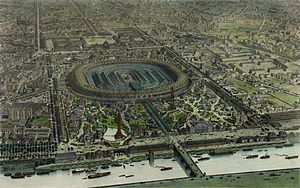 Exposition Universelle (1867) - Official bird's-eye view of Exposition Universelle of 1867.