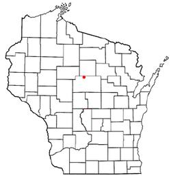 Location of Hamburg, Wisconsin