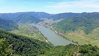 Wachau valley in Austria