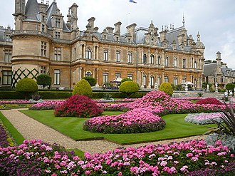 Rothschild family - A Rothschild house, Waddesdon Manor in Waddesdon, Buckinghamshire, England donated to the National Trust by the family in 1957.