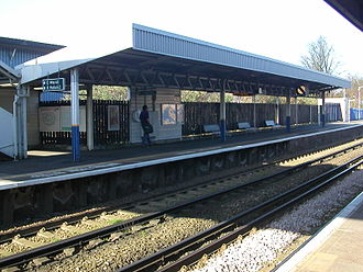 Waddon railway station - View of the eastbound platform