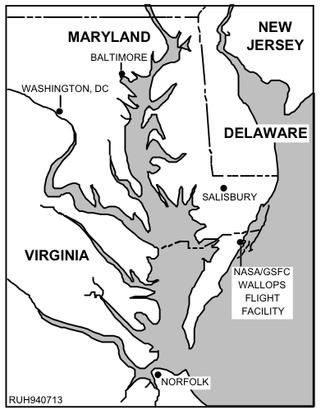 Wallops Island - Image: Wallops Island location