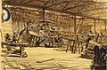 War Drawings by Muirhead Bone- Erecting Aeroplanes Art.IWMREPRO00068420.jpg