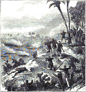 Pikysyry maneuver - War in Paraguay: Engagement at Chaco (Harper's Weekly: A Journal of Civilization, Vol. XII, nº 617, 24/10/1868).