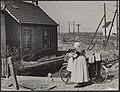 Watersnood 1953. Terugkeer van de bevolking na de evacuatie. Nu de dijk bij Rill, Bestanddeelnr 059-1102.jpg