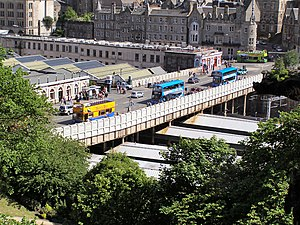 Waverley Bridge - Waverley Bridge viewed from the Scott Monument