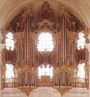 Organ of the Basilica of St. Martin (Weingarten) - Façade of the organ