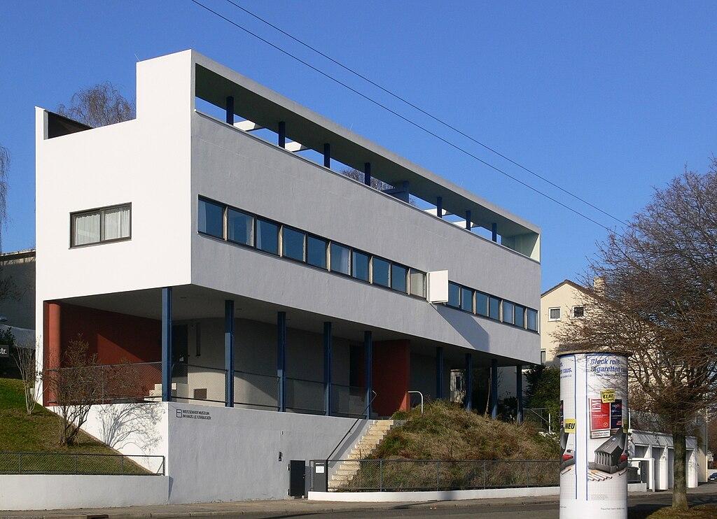 Doppelhaus mit Weißenhofmuseum (UNESCO-Weltkulturerbe in der Weißenhofsiedlung Stuttgart