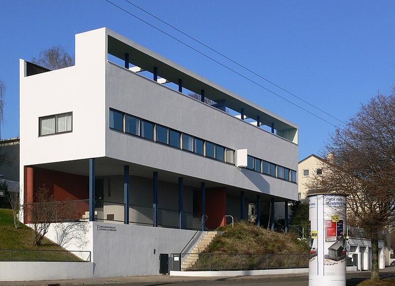 Bâtiment conçu par Le Corbusier (1887-1965) à Stuttgart en 1927. Cette photo devra-t-elle être bientôt supprimée de Wikipédia ?