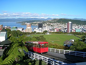 Wellington Cable Car - Image: Wellington NZ cablecar topview