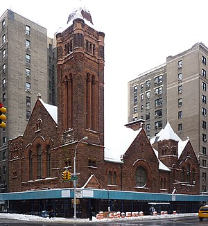 West-Park Presbyterian Church - View from the corner of Amsterdam Avenue and 86th Street