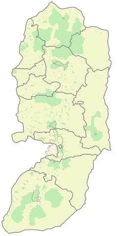 Territorio bajo control de la ANP en la actualidad (verde)