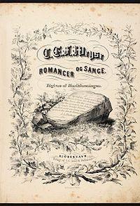 Title page of Romancer og Sange (published 1853) (Source: Wikimedia)