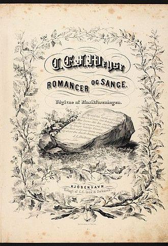 Christoph Ernst Friedrich Weyse - Title page of Romancer og Sange (published 1853)