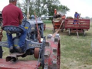 Goessel, Kansas - Image: Wheat Threshing Demo at Goessel Threshing Days in Goessel, Kansas