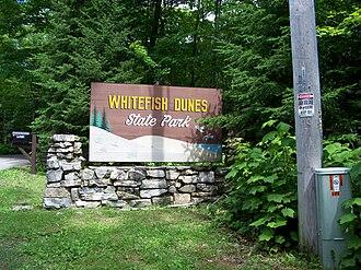 Whitefish Dunes State Park - Image: Whitefish Dunes State Park Sign