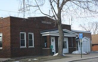 Wild Rose, Wisconsin - Image: Wild Rose Wisconsin Village Hall WIS22