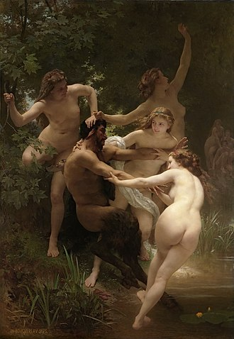 Nymphs and Satyr - Image: William Adolphe Bouguereau (1825 1905) Nymphs and Satyr (1873) HQ